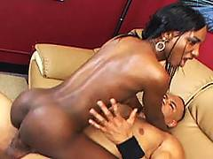 Ebony Seductress Rides Thick Black Dick