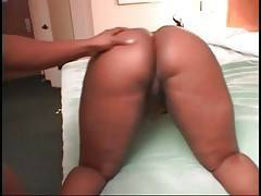 Sluty black babe with large yammy butt is ready to be fucked.
